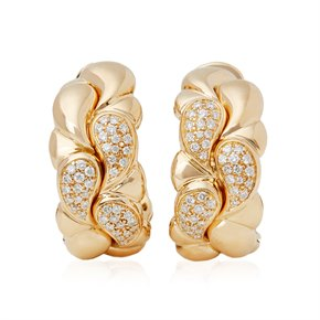 Chopard 18k Yellow Gold Diamond Cašmir Earrings