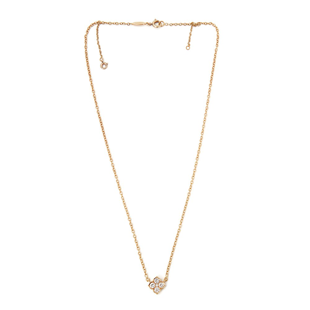 Cartier 18k Yellow Gold Diamond Vintage Inde Mystérieuse Necklace