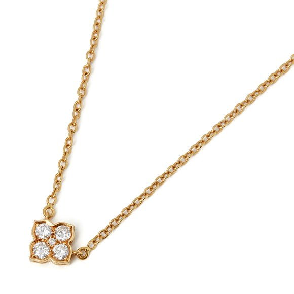Cartier 18k Yellow Gold Diamond Inde Mystérieuse Necklace