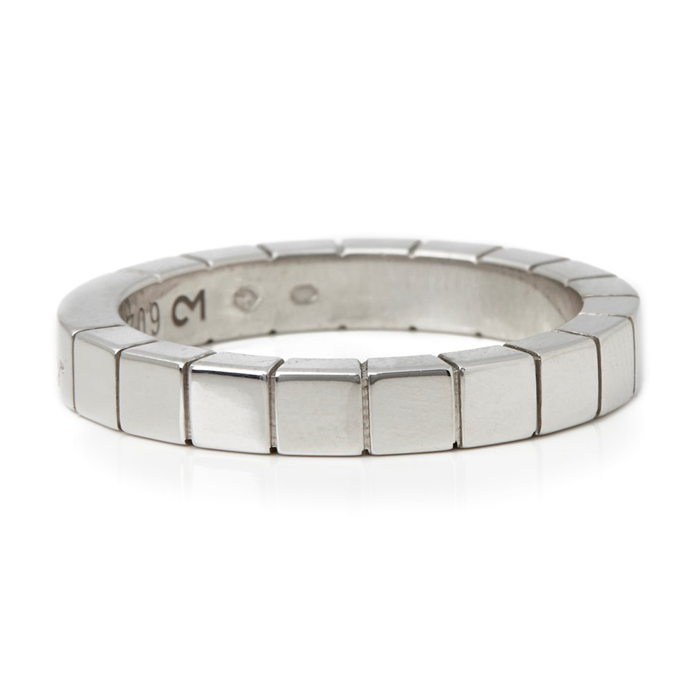 Cartier 18k White Gold Lanieres Band Ring
