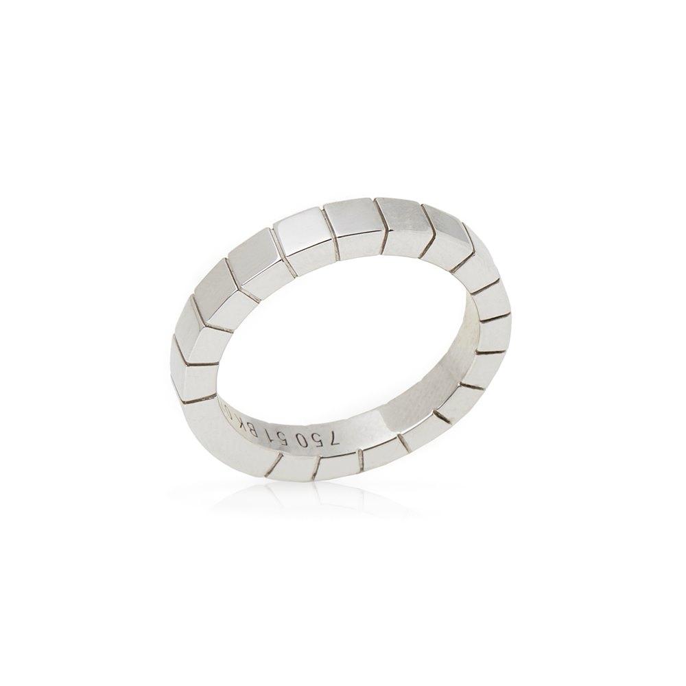 Cartier 18k White Gold Lanieres Band Ring