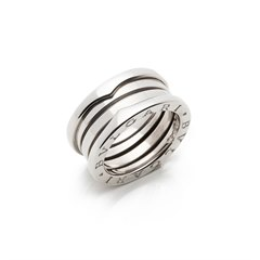 Bulgari 18k White Gold B.Zero 1 Ring