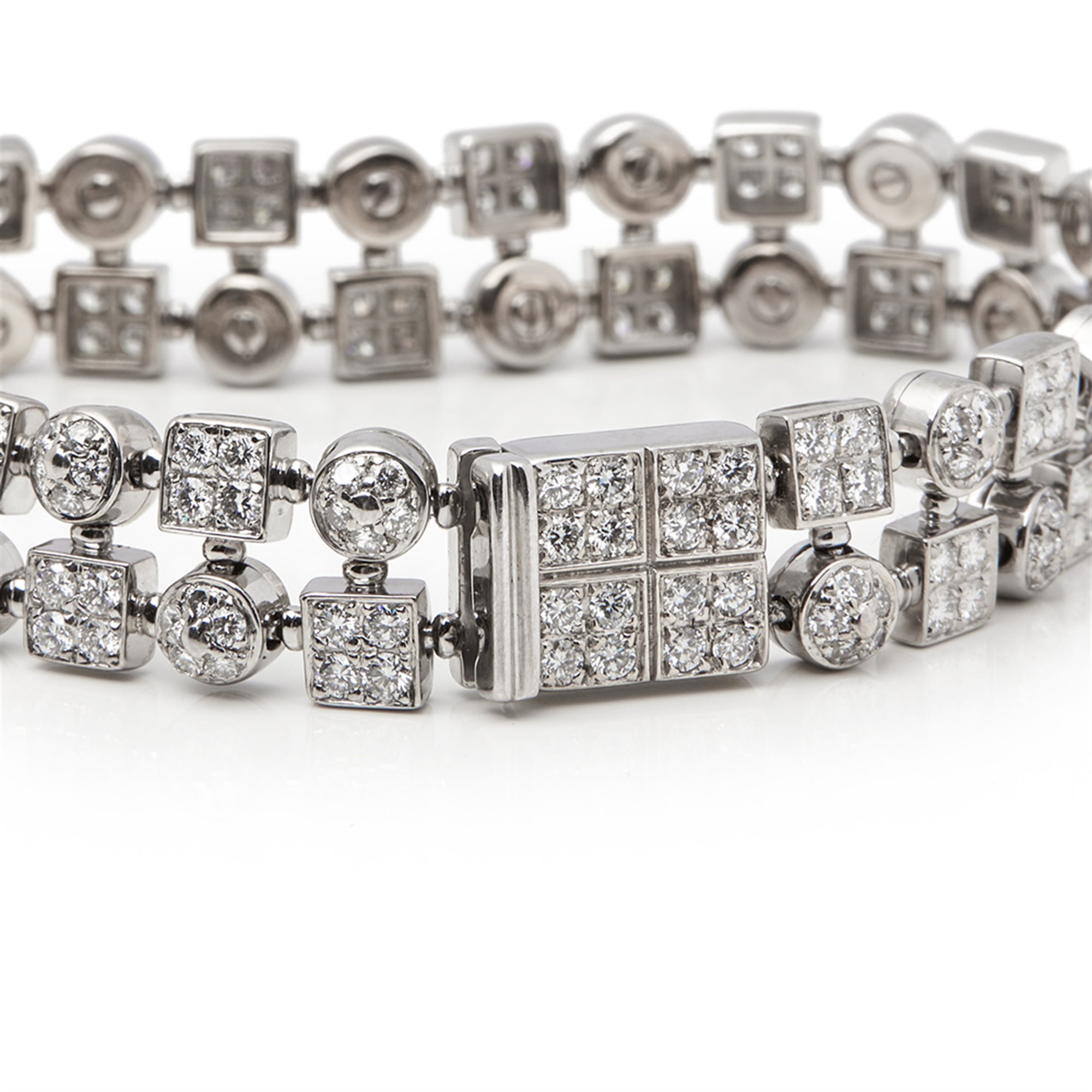 Bulgari 18k White Gold Diamond Lucéa Bracelet