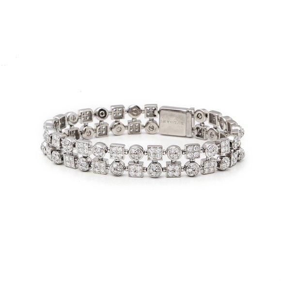 Bulgari 18k White Gold Diamond Lucéa Bracelet