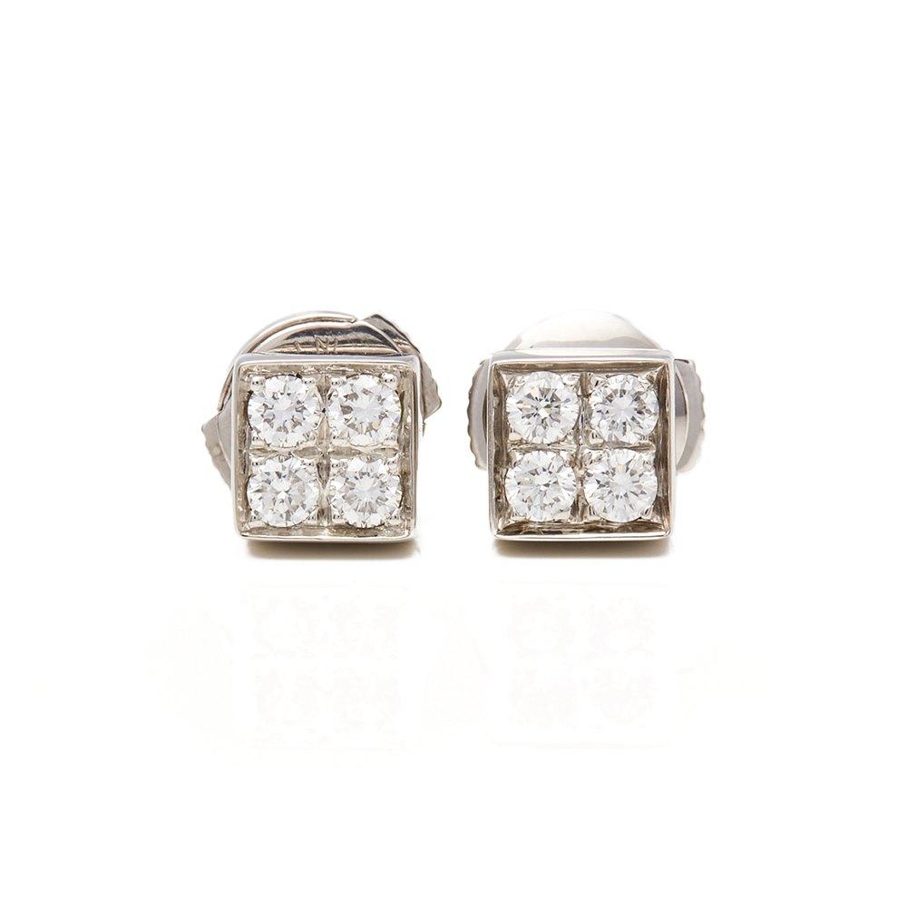 Bulgari 18k White Gold Diamond Lucéa Earrings