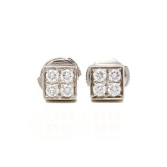 Bulgari 18k White Gold Diamond Lucéa Earrings