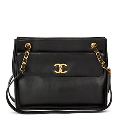 Chanel Black Lambskin Vintage Classic Shoulder Bag