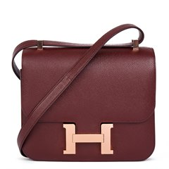 Hermès Bordeaux Epsom Leather Constance 24