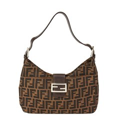 Fendi Brown Monogram Canvas Hobo Bag