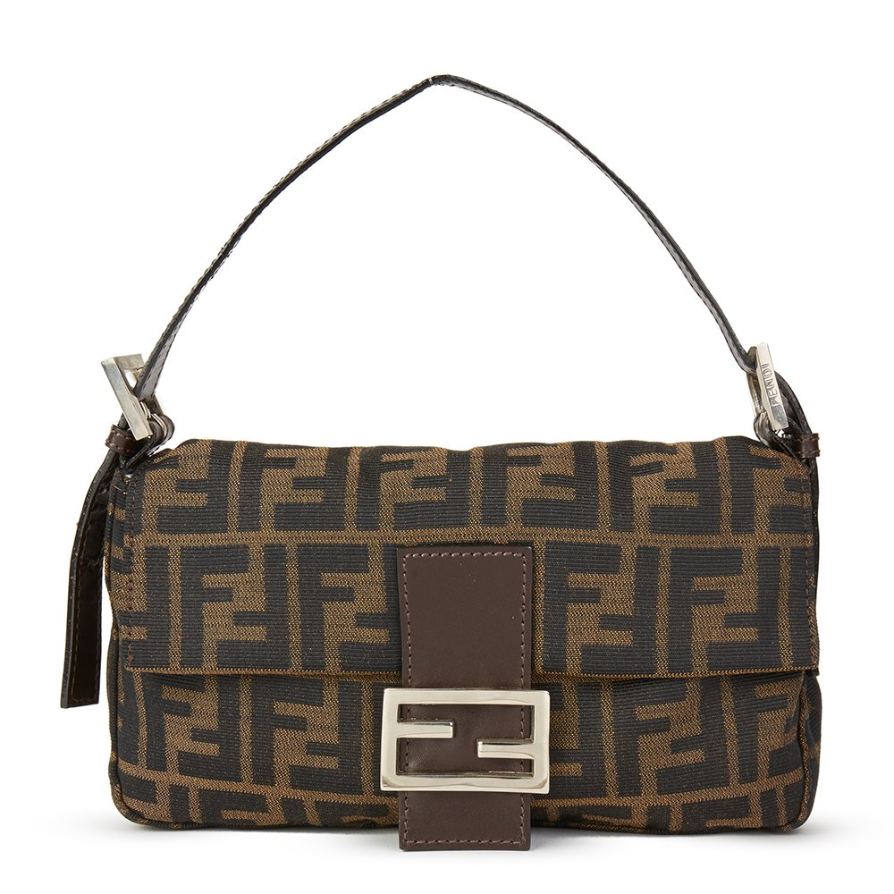Fendi Brown Monogram Canvas Baguette