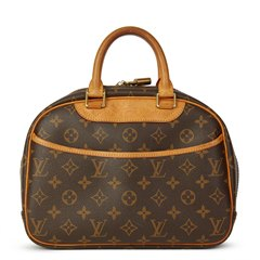 Louis Vuitton Brown Coated Monogram Canvas Trouville
