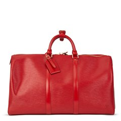 Louis Vuitton Red Epi Leather Vintage Keepall 50