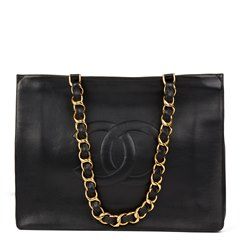 Chanel Black Lambskin Vintage Jumbo XL Timeless Shopping Tote