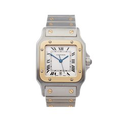 Cartier Santos Galbee Stainless Steel & 18K Yellow Gold - W20011C4