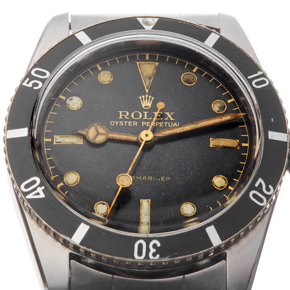 """Rolex Submariner """"Red Depth"""" Units Only Stainless Steel 6538"""