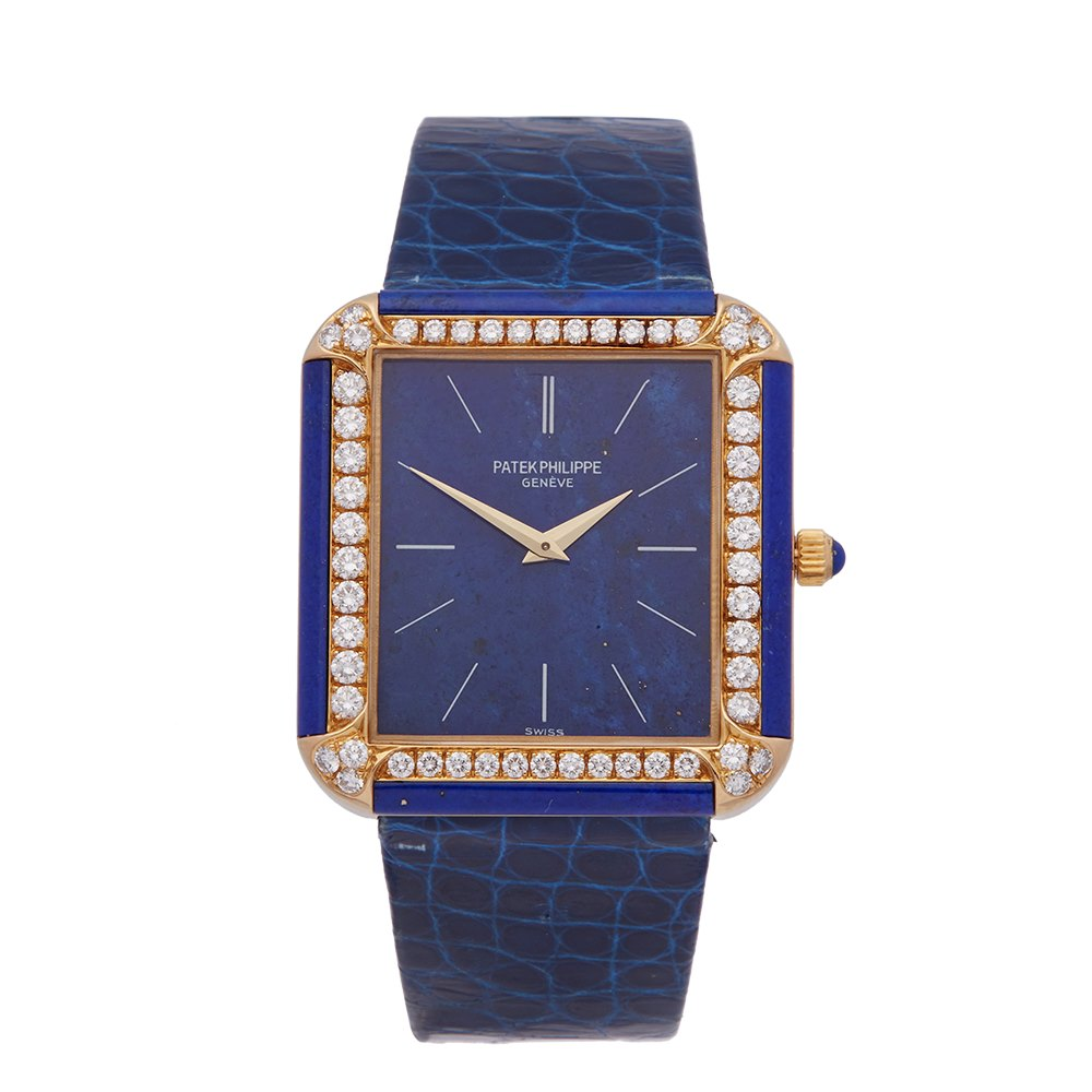 Patek Philippe Vintage Lapis Lazuli Yellow Gold 3727