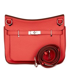 Hermès Bougainvillea Clemence Leather Jypsiere 28