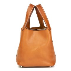 Hermès Natural Barenia Leather Picotin PM