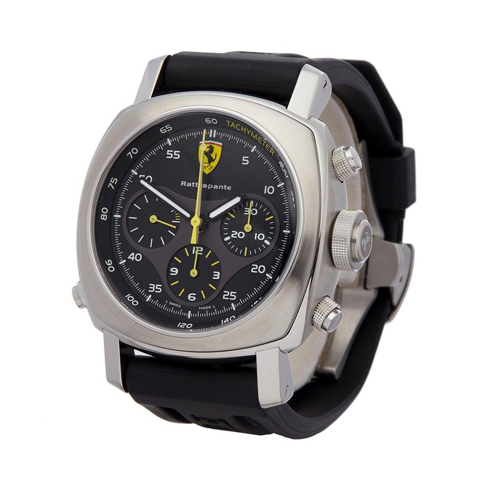 Panerai Ferrari Rattrapante Chronograph Stainless Steel FER00010