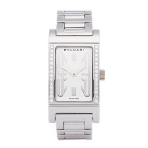 Bulgari Rettongolo Diamond 18K White Gold - RT W39 G