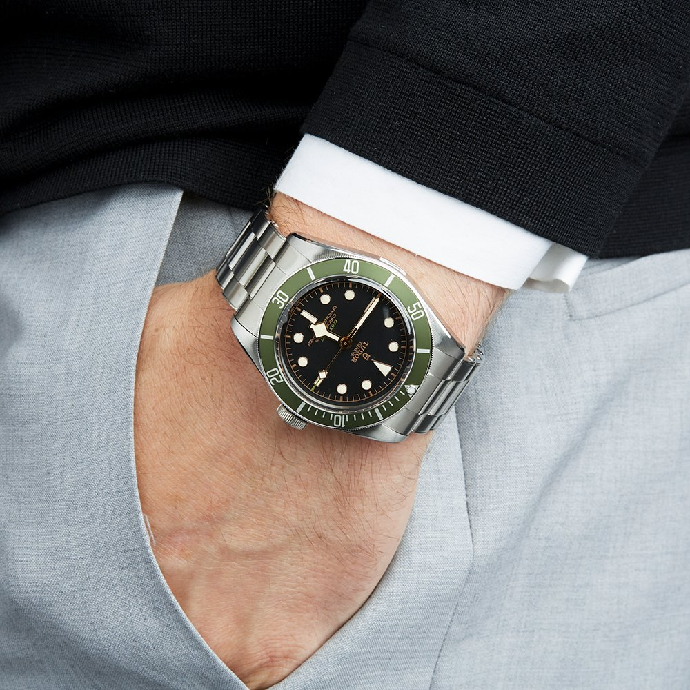 1bb0d1ff956 Tudor Heritage Black Bay Harrods Limited Edition Stainless Steel 79230G