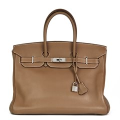Hermès Etoupe Togo Leather Birkin 35cm
