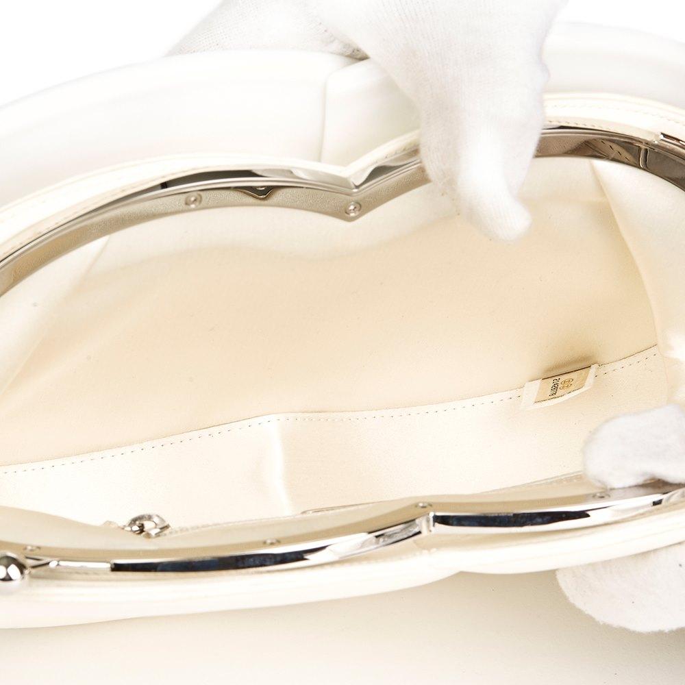 7d1dc3a6d4a1 Chanel White Calfskin Leather & Plexiglass Brasserie Gabrielle Plate Clutch  Bag