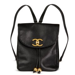 Chanel Black Caviar Leather Vintage Classic Timeless Backpack