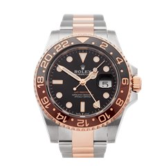 Rolex GMT-Master II Root Beer Stainless Steel & 18K Rose Gold - 126711CHNR