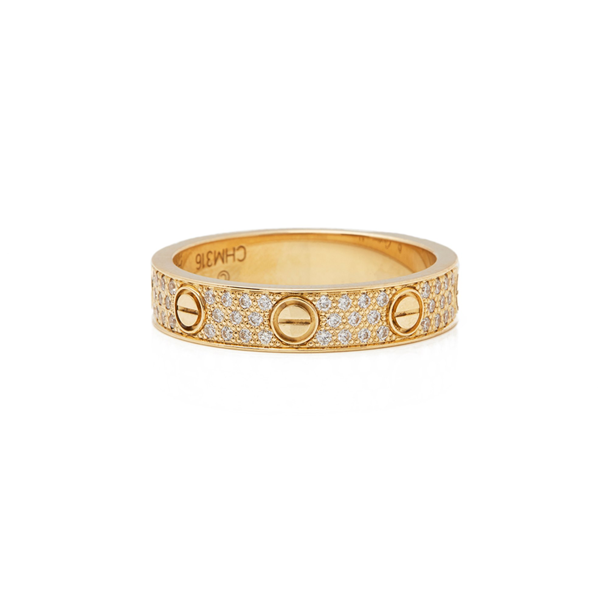 Cartier 18k Yellow Gold Diamond Love Ring