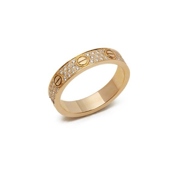 Cartier 18k Yellow Gold Diamond Love Ring