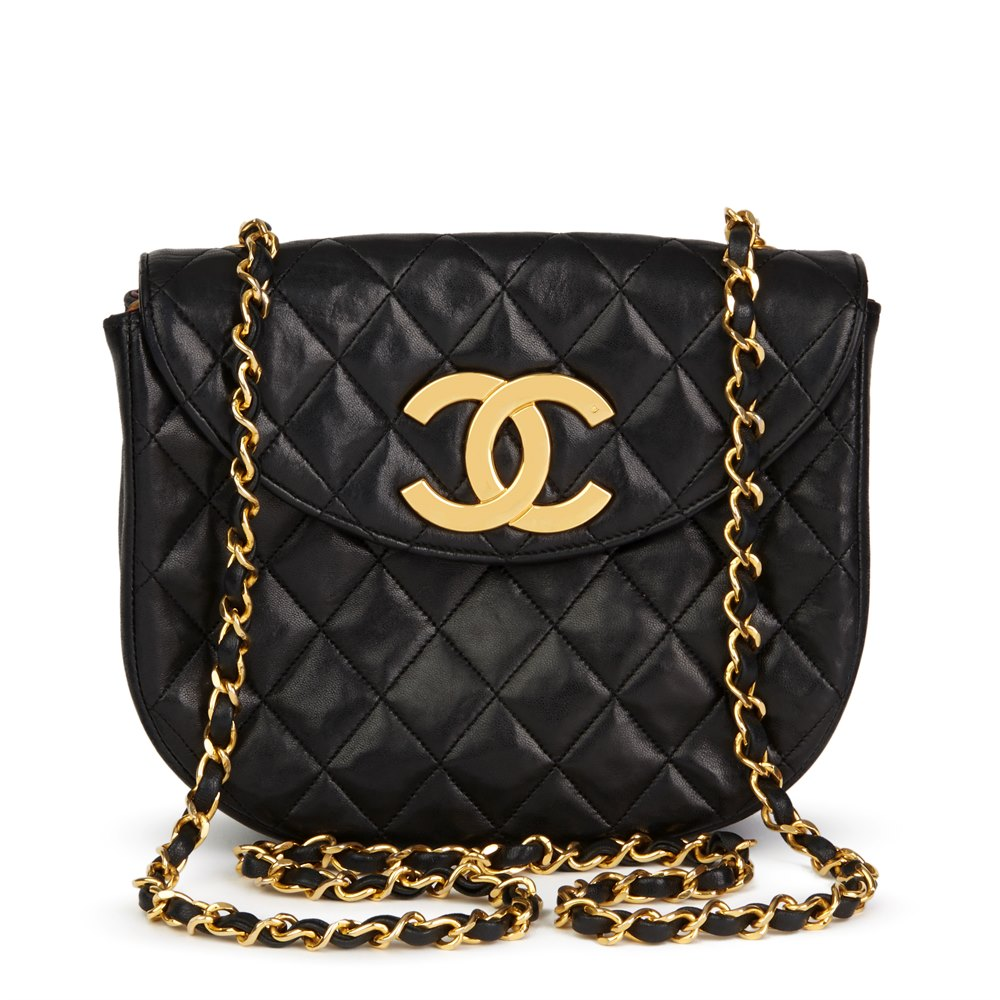 5dd873cc2ccc Chanel Black Quilted Lambskin Vintage XL Classic Single Flap Bag