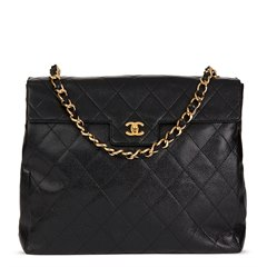 Chanel Black Quilted Caviar Leather Timeless Shoulder Tote