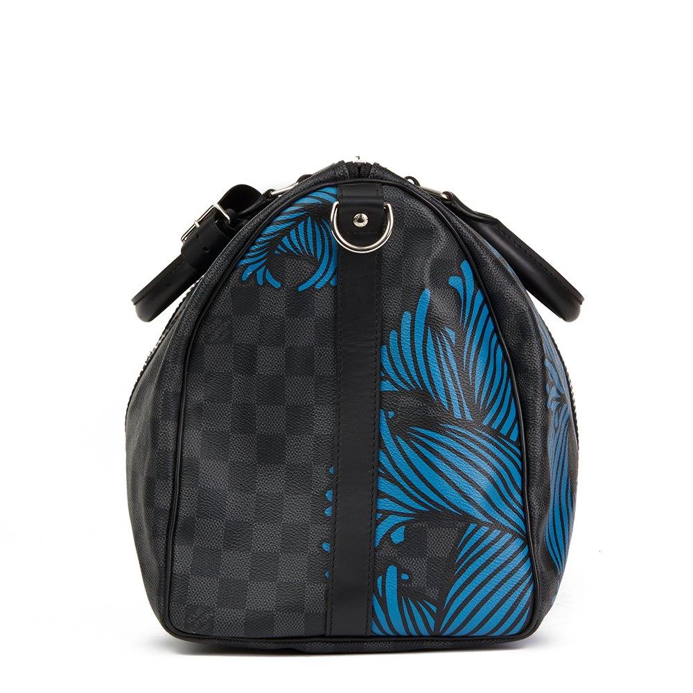 Louis Vuitton Graphite Damier Monogram Canvas Christopher Nemeth Blue Rope Keepall Bandouliere 45