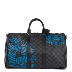 Louis Vuitton Graphite Damier Monogram Canvas Christopher Nemeth Blue Rope Keepall Bandouliere 45