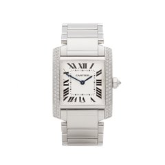 Cartier Tank Francaise Diamond 18K White Gold - WE1009S3 or 2404MG
