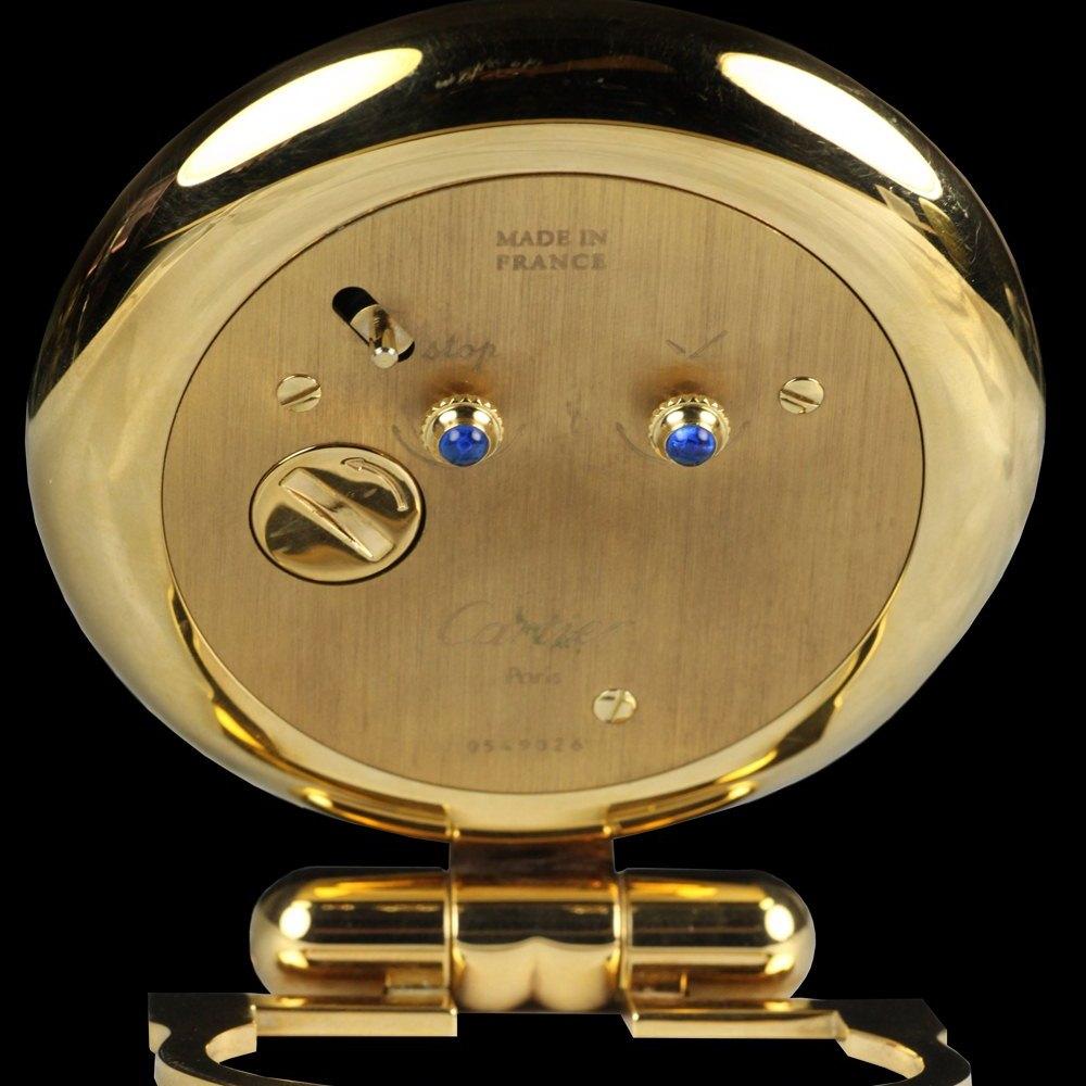 Cartier Travel Desk Clock Gold Plated