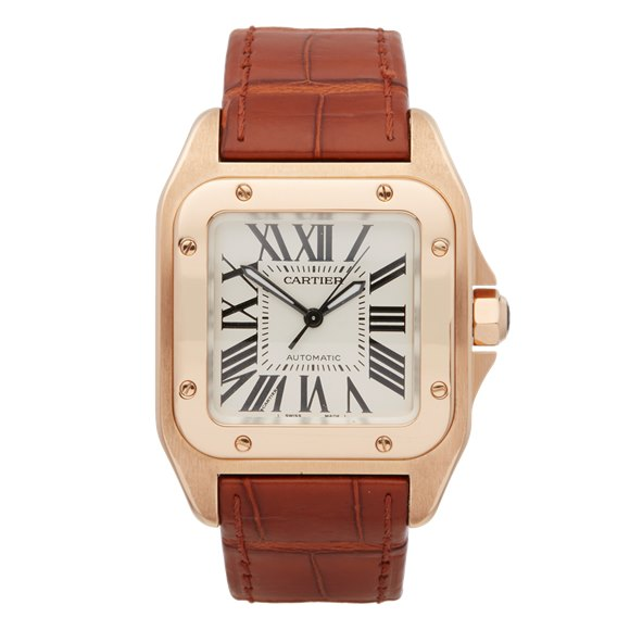 Cartier Santos 100 18k Rose Gold - W20108Y1 or 2879