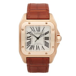 Cartier Santos 100 18k Rose Gold - 2879