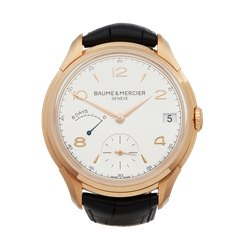 Baume & Mercier Clifton 8 Days Power Reserve 18K Rose Gold - MOA10195