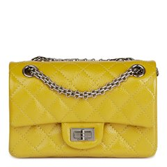Chanel Chartreuse Quilted Patent Caviar Leather 2.55 Reissue 224 Double Flap Bag