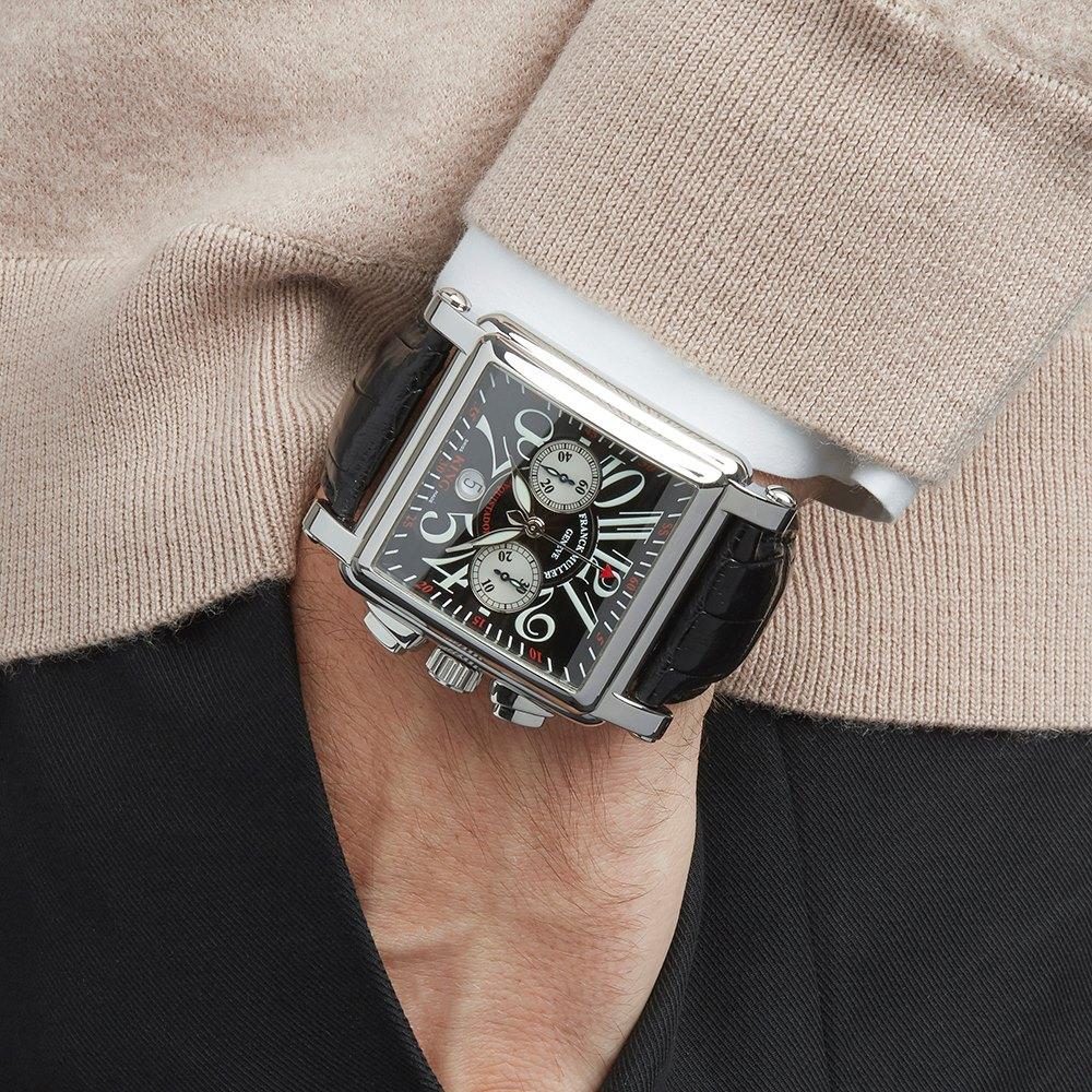 Franck Muller King Conquistador Cortez Chronograph Stainless Steel 1000 K CC