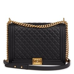 Chanel Black Quilted Lambskin Large Le Boy