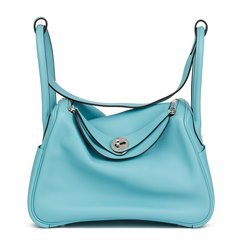 Hermès Blue Atoll Evercolour Leather Lindy 26