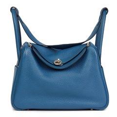 Hermès Blue Togo Blue Thalassa Leather Lindy 30