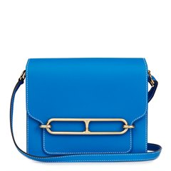 Hermès Blue Hydra Evercolour Leather Roulis 23