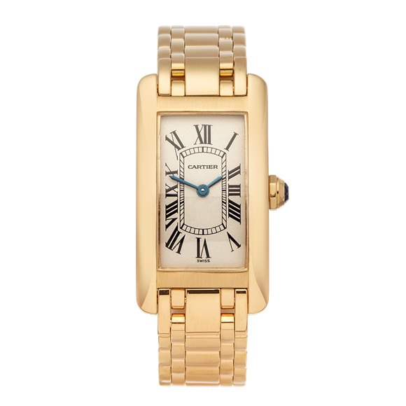 Cartier Tank Americaine Yellow Gold - W26015K2 or 1710