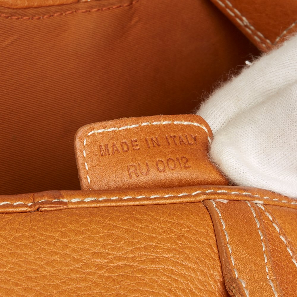 Christian Dior Tan Calfskin Leather Saddle Bag