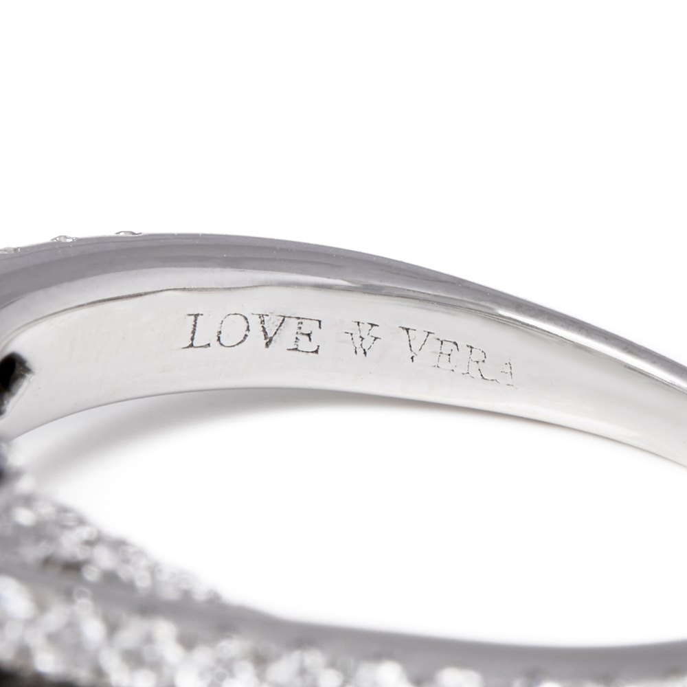 Vera Wang 14k White Gold Double Halo Diamond Engagement Ring