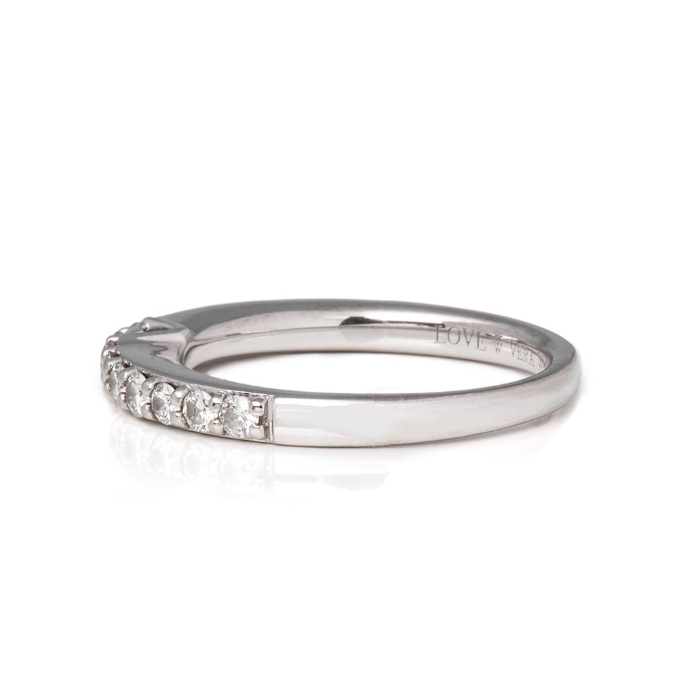 Vera Wang 14k White Gold Half Diamond Eternity Ring